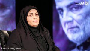 نشان   گفتگو با ام البنین بهرامی